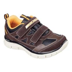Boys' Skechers Flex Advantage Master Explorer Sneaker Chocolate/Orange