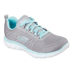 Women's Skechers Flex Appeal 2.0 Break Free Training Shoe Gray/Light Blue