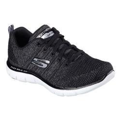 Women's Skechers Flex Appeal 2.0 High Energy Training Shoe Black/White