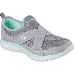 Women's Skechers Flex Appeal 2.0 New Image Walking Shoe Gray/Turquoise