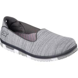Women's Skechers GO MINI-FLEX Walk Slip On Walking Shoe Gray