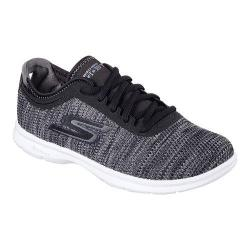 Women's Skechers GO STEP Prismatic Walking Shoe Black/Gray