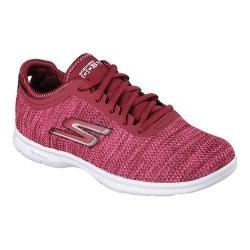 Women's Skechers GO STEP Prismatic Walking Shoe Burgundy/Pink
