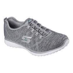 Women's Skechers Microburst On the Edge Bungee Lace Sneaker Gray