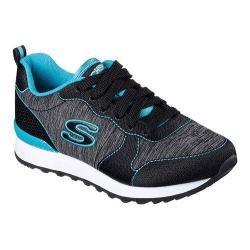Women's Skechers OG 85 Quick Stitch Sneaker Black/Teal