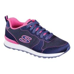 Women's Skechers OG 85 Quick Stitch Sneaker Navy/Pink
