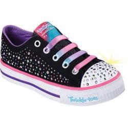 Girls' Skechers Twinkle Toes Shuffles Twirly Toes Sneaker Black/Multi