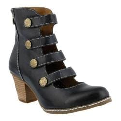 Women's L'Artiste by Spring Step Anchor Bootie Black Leather