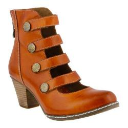 Women's L'Artiste by Spring Step Anchor Bootie Camel Leather