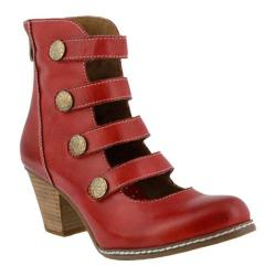 Women's L'Artiste by Spring Step Anchor Bootie Red Leather