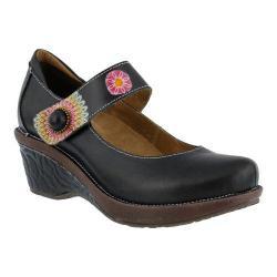 Women's L'Artiste by Spring Step Caliko Mary Jane Black Multi Leather