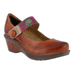 Women's L'Artiste by Spring Step Caliko Mary Jane Camel Multi Leather