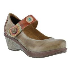 Women's L'Artiste by Spring Step Caliko Mary Jane Gray Multi Leather