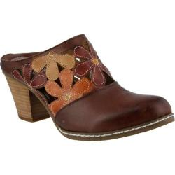 Women's L'Artiste by Spring Step Helga Clog Brown Multi Leather