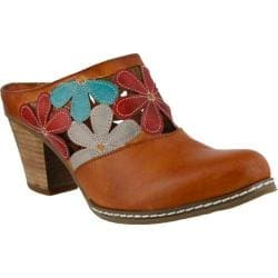 Women's L'Artiste by Spring Step Helga Clog Camel Multi Leather