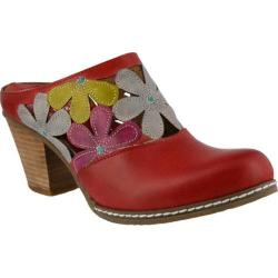 Women's L'Artiste by Spring Step Helga Clog Red Multi Leather