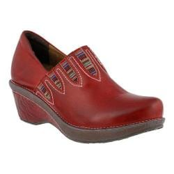 Women's L'Artiste by Spring Step Scribble Slip On Red Leather