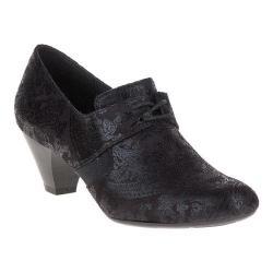 Women's Soft Style Gretel Oxford Black Paisley Faux Suede