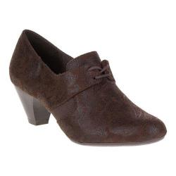 Women's Soft Style Gretel Oxford Dark Brown Paisley Faux Suede