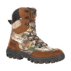 Men's Rocky 8in S2V Jungle Hunter Waterproof Boot RKS0272 Brown RealTree Xtra Full Grain Leather/Nylon