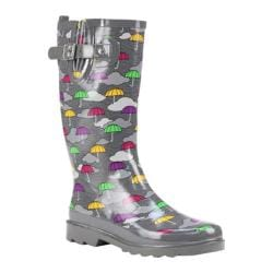 Women's Western Chief Umbrella Clouds Rain Boot Multi