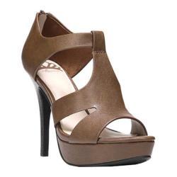 Women's Fergalicious Emilee Sandal Cognac Synthetic Leather