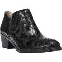 Women's Naturalizer Zarie Bootie Black Printed Snake Leather