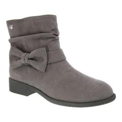 Girls' Nina Pinky Ankle Boot - Big Kid Grey Microsuede