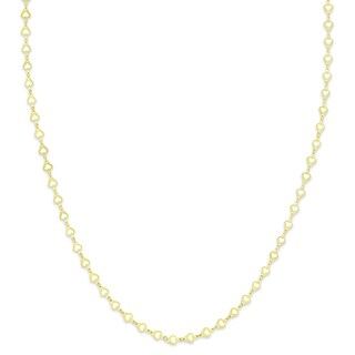 Molly and Emma Gold Over Sterling Silver Heart Design Necklace
