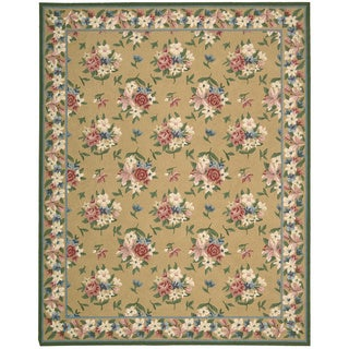 Nourison Lattice Yellow Area Rug (7'3 x 9'3)