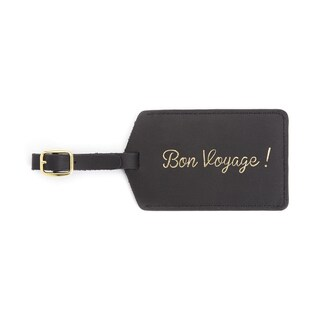 ROYCE Luxury Luggage Hang Tag ID in Genuine Leather 'Bon Voyage'