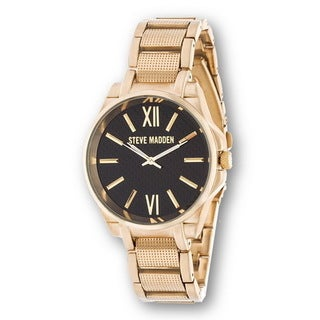 Steve Madden Gold Case and Stainless Steel Strap Watch