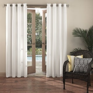 Sun Zero Indoor/Outdoor Woven Solid Color Polyester Curtain Panel