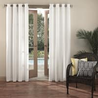 Sun Zero Reed UV Blocking Indoor/Outdoor Woven Curtain Panel