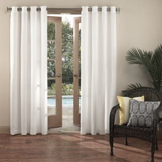 Sun Zero Reed UV Blocking Indoor/Outdoor Woven Single Curtain Panel