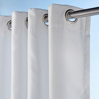 Sun Zero Indoor/Outdoor Woven Solid Color Curtain Panel