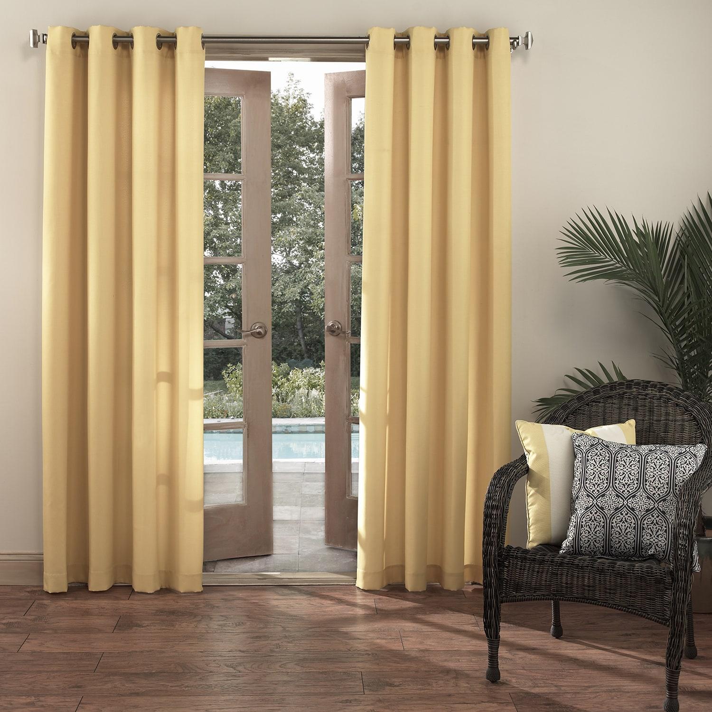 Sun Zero Reed UV Blocking Indoor/Outdoor Woven Curtain Pa...