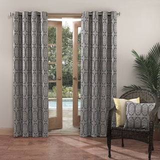 Sun Zero Outdoors Indoor/Outdoor Woven Mosaic Color Curtain Panel