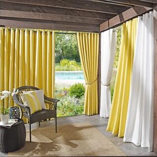 Sun Zero Outdoors Indoor/Outdoor Woven Mosaic Color Curtain Panel