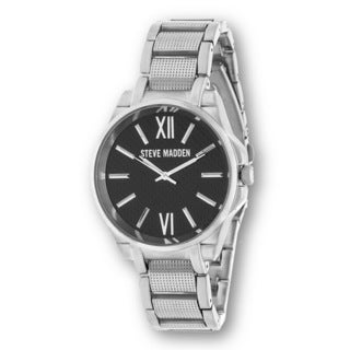 Steve Madden Silver Case and Stainless Steel Strap Watch