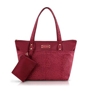 Jacki Design Miss Chantelle Polyester 2-piece Cheetah-print Tote Bag Set