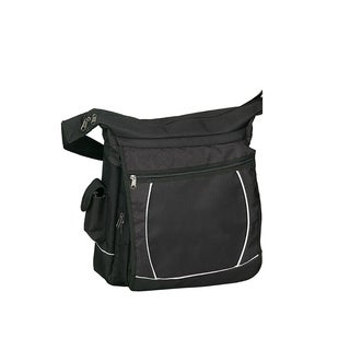 Goodhope Black 15-inch Laptop Sling Messenger Bag