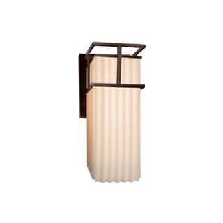 Justice Design Group Porcelina Structure Bronze Outdoor Large Wall Sconce