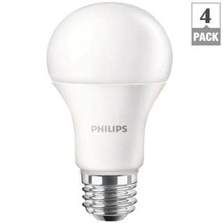 Philips 461137 A19 60-watt Equivalent Daylight LED Lightbulbs (Pack of 4)