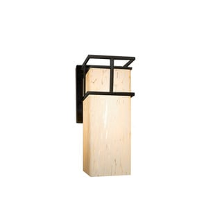 Justice Design Group Fusion Structure LED Black Outdoor Small Wall Sconce