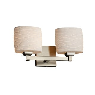 Justice Design Group Limoges Regency 2-light Nickel Oval Bath Bar