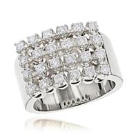 Luxurman 14k Gold Men's 1 1/3ct TDW Row Diamond Ring