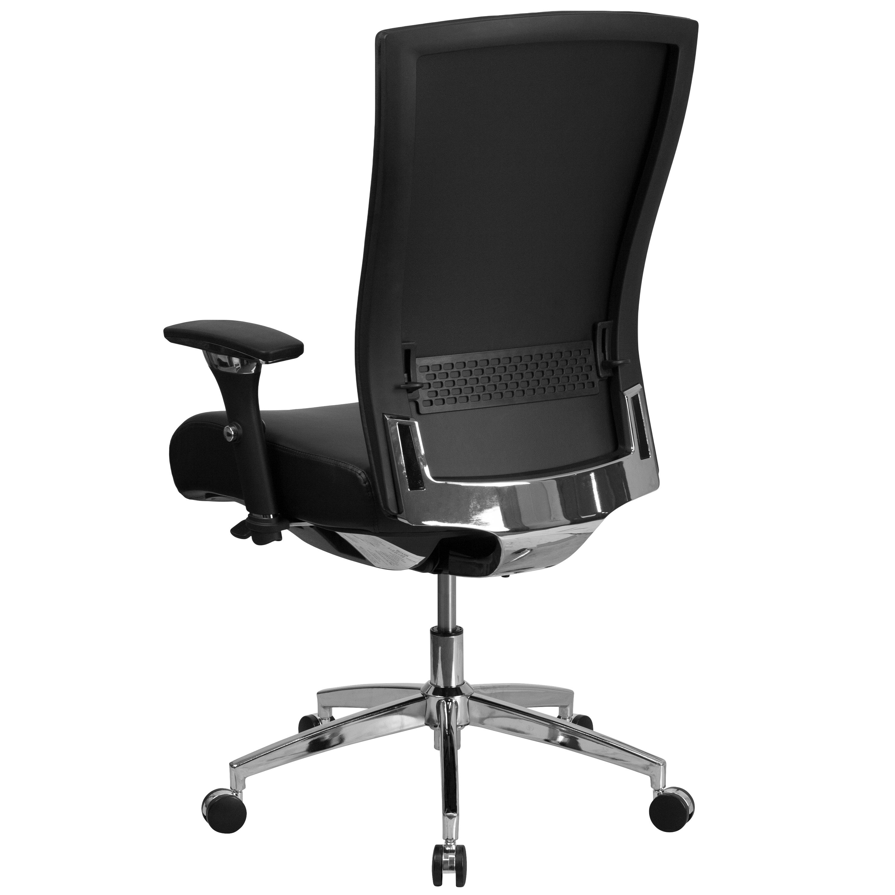 Hercules Series 24 7 Intensive Use 300 Lb Rated Multifunction Executive Swivel Chair With Seat Slider