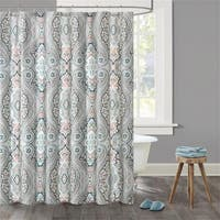 Echo Design™ Sterling Cotton Sateen Printed Shower Curtain