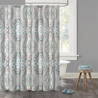 Echo Design™ Sterling Cotton Sateen Printed Shower Curtain - Multi-color